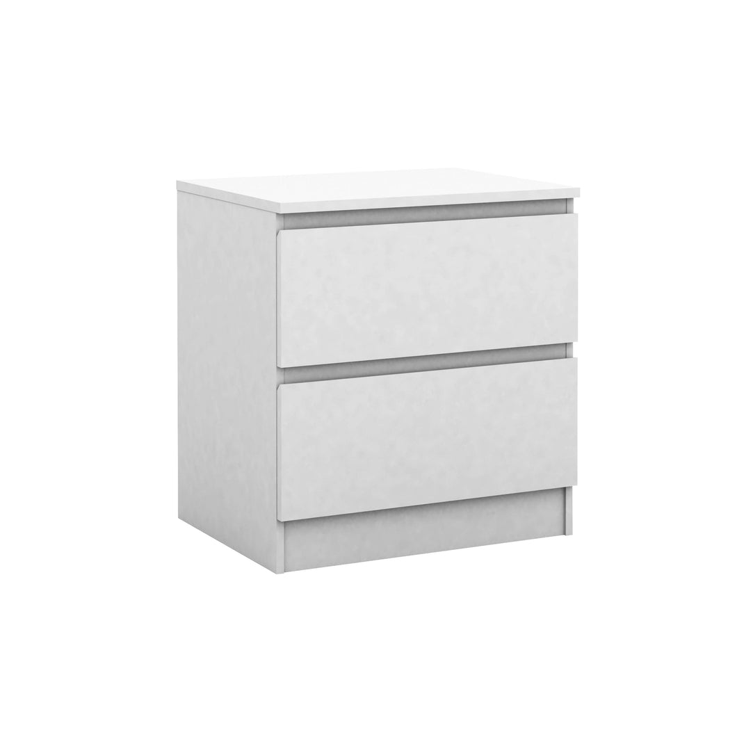 Coco 2 Drawer Bedside Table White