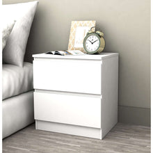 Load image into Gallery viewer, Coco 2 Drawer Bedside Table White