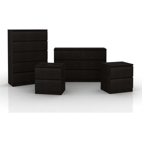 Coco 4 Piece Storage Suite Black Brown