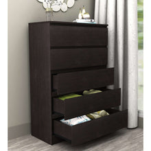 Load image into Gallery viewer, Coco 5 Drawer Chest Brown