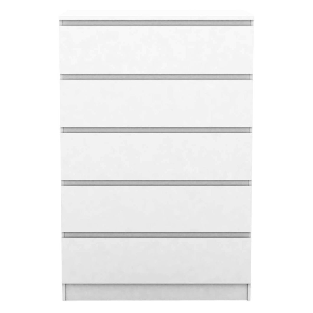Coco 5 Drawer Chest Classic Matt White
