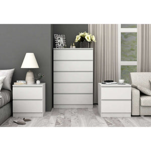 Coco 5 Drawer Storage Set Satin White