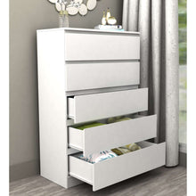 Load image into Gallery viewer, Coco 5 Drawer Storage Set Satin White