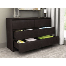 Load image into Gallery viewer, Coco 6 Drawer Chest Lowboy Black Brown
