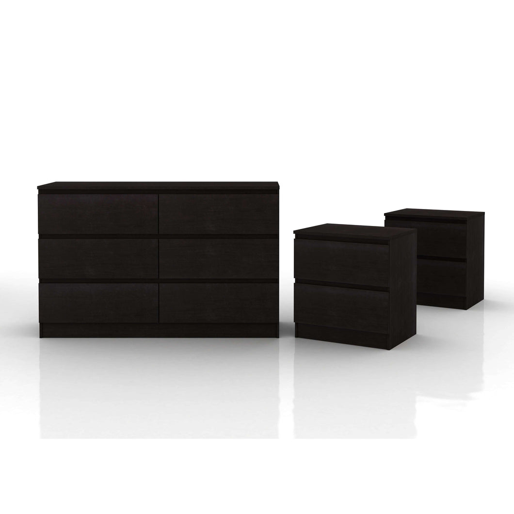 Coco Lowboy Storage Set Black Brown
