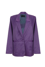 Load image into Gallery viewer, Purple Oversized Blazer