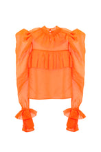 Load image into Gallery viewer, Orange Oversized Shoulders Shirt
