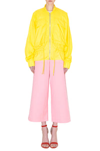 Yellow Bomber Oversized Pockets