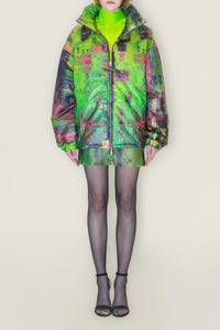 Multicoloured Puffer Jacket