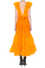 Load image into Gallery viewer, Long Neon Orange Dress