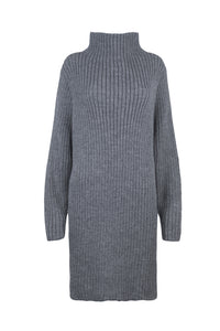 Grey Knitted Dress