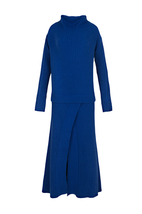Knitted Blue Dress