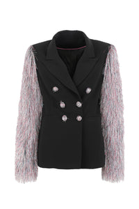 Blazer with Multicolored Sleeves