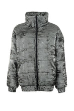 Load image into Gallery viewer, Silver Puffer Jacket