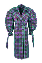 Load image into Gallery viewer, Tartan trench coat