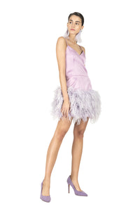 Feathers Short Dress