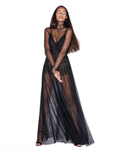 Black long dress