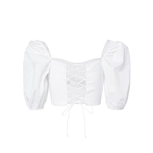 Load image into Gallery viewer, Puff Sleeve Cropped Top