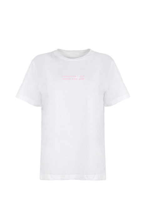 T-shirt Pink Embroidery