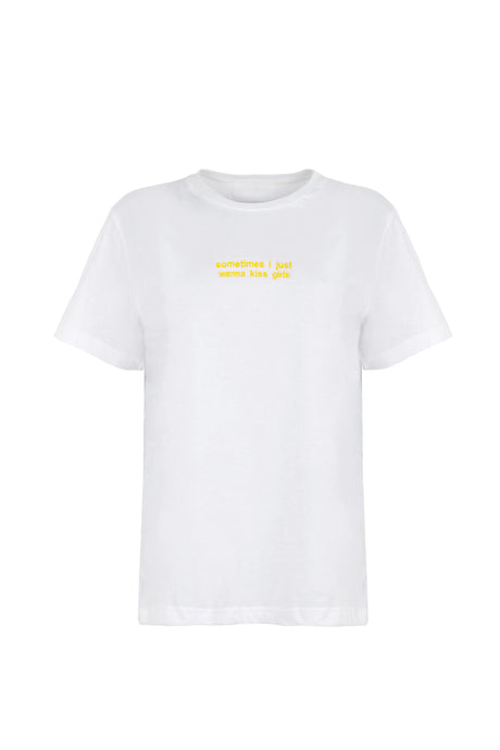 T-shirt Yellow Embroidery