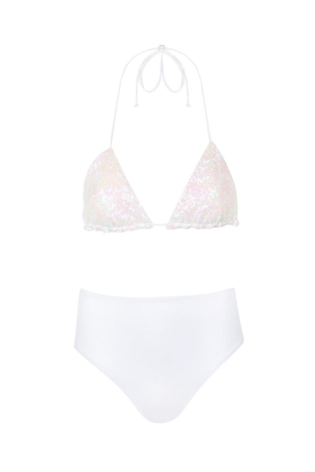 Sequins triangle bikini set