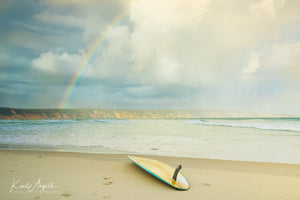 Rainbow - Double Island Point - Surf Art Apparel
