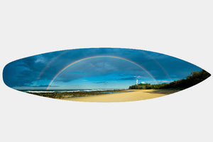 Point Cartwright Rainbow - Surfboard Mounted Print - Surf Art Apparel