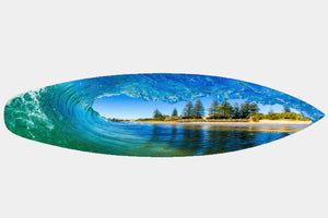Dicky Beach Perfection - Surfboard Mounted Print - Surf Art Apparel