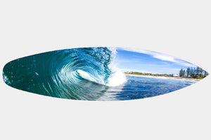 Dicky Reef - Surfboard Mounted Print - Surf Art Apparel