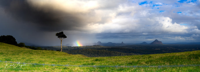 Stormy Rainbow - Glass House Mountains - Surf Art Apparel