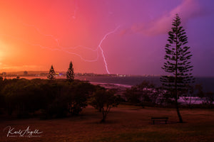 Sunset Bolt - Mooloolaba - Surf Art Apparel