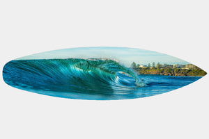 Moffat Beach Touch Down - Surfboard Mounted Print - Surf Art Apparel