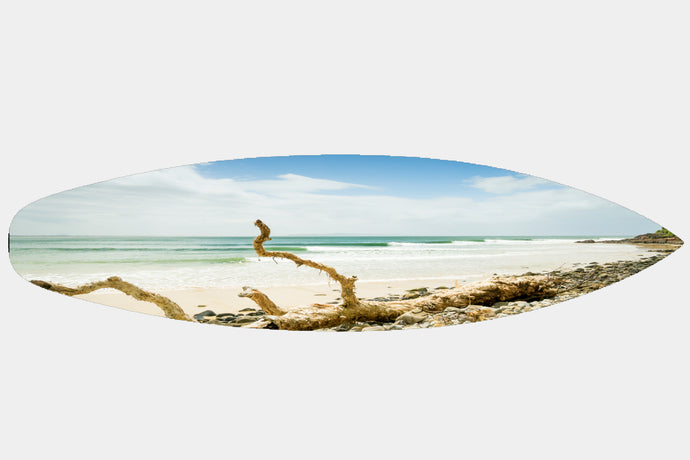 Empty Noosa Point - Surfboard Mounted Print - Surf Art Apparel