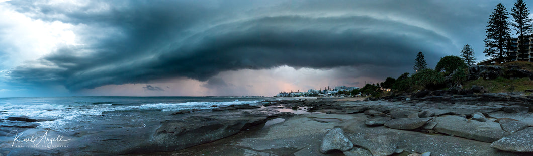 Kings Beach Storm Front - Panoramic - Surf Art Apparel