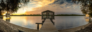 Maroochydore Boat House (Panoramic) - Surf Art Apparel