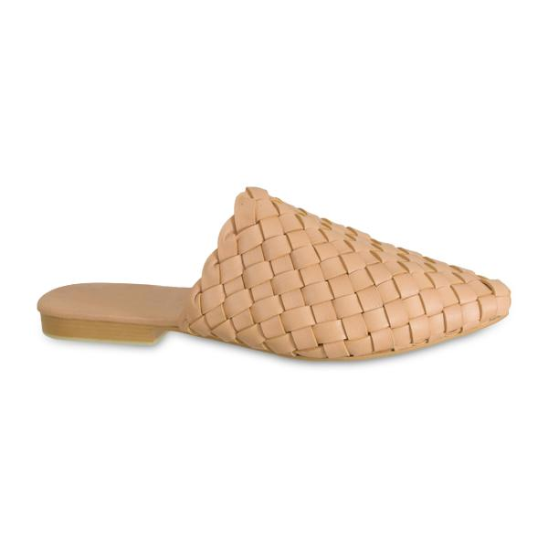 Pointed Woven Slide Nude