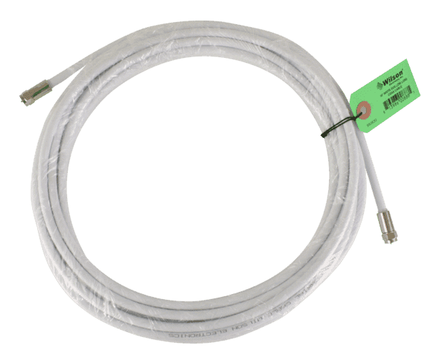 30' White RG6 Cable (F-Male to F-Male )