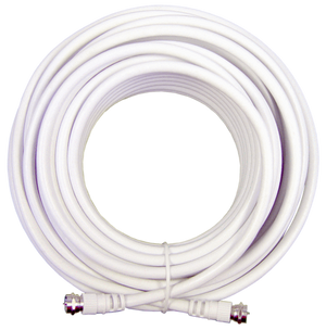 20' White RG6 Cable (F-Male to F-Male )