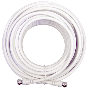 50' White RG6 Cable (F-Male to F-Male )