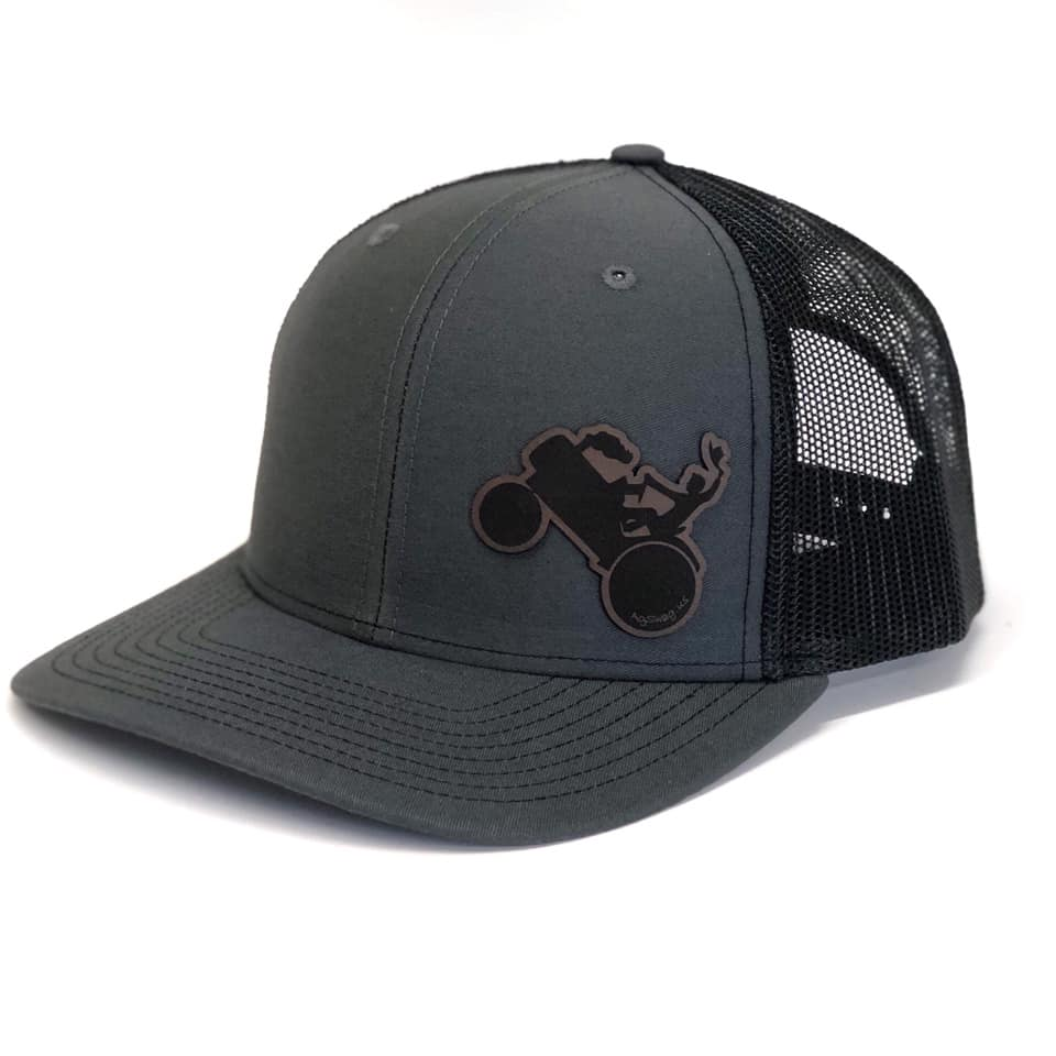 Tractor Swag Snapback to the side, Meshback in Charcoal