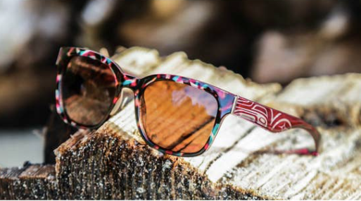 Sunglasses, Burgundy Teal Tortoise
