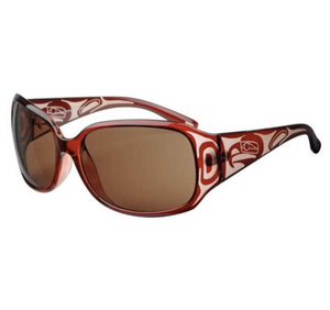 Sunglasses, Eagle Design in Brown