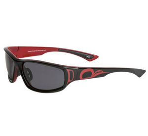 Sunglasses, Bold Black and Red