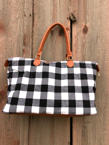 Weekender Buffalo Plaid in Black and White