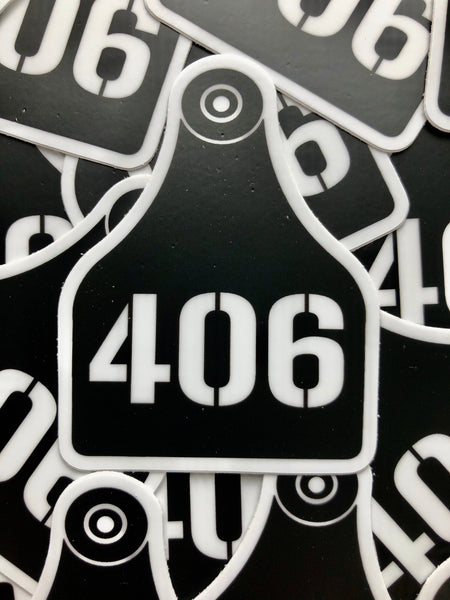 406 Cattle Tag Sticker