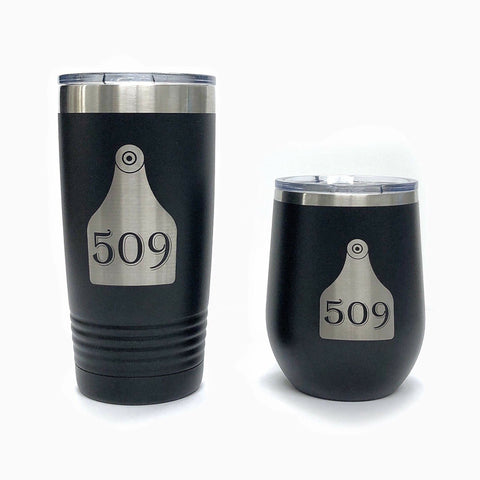 Custom Cattle Tag Tumblers
