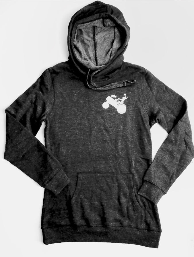 Tractor Girl Cowl Neck Hoodie