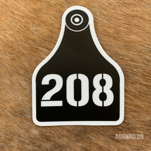 208 Cattle Tag Sticker