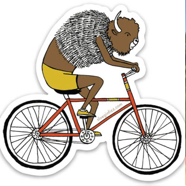 Bicycling Bison