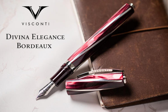 New! Visconti Davina Elegance Bordeaux FP Collection